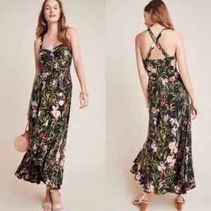 NEW Anthropologie Gabriela Ruffled Maxi Dress